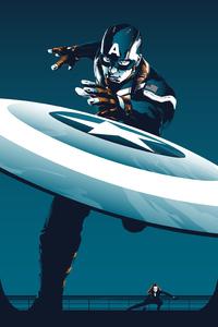Captain America Winter Solider Art