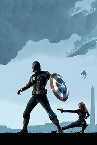 1080x2160 Captain America Winter Solider Arts