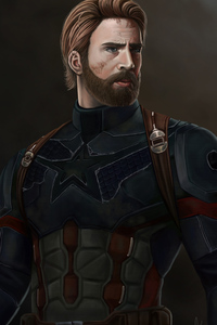 Captain America With Beard