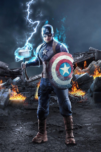1125x2436 Captain America With Broken Shield