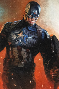 1125x2436 Captain America With Hammer Running