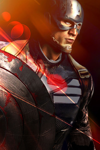 Captain America With His Shield Artwork