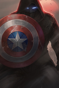 Captain America With His Shield Iron Mask Contest Of Champions