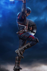 Captain America With Lightning Hammer 4k
