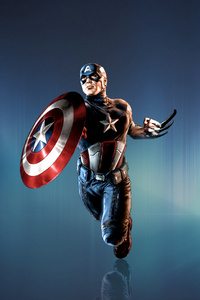 Captain America With Shield And Claws Art