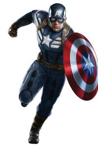 Captain America With Shield Artwork