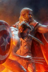 800x1280 Captain America Wolverine Thor