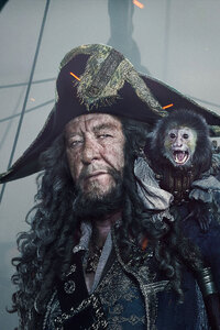 480x854 Captain Hector Barbossa In Pirates Of The Caribbean Dead Men Tell No Tales Movie