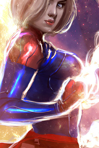 240x320 Captain Marvel 2020 Artwork 4k