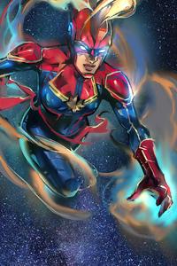 Captain Marvel 2020 Sketch Artwork