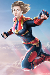 Captain Marvel 4k Art