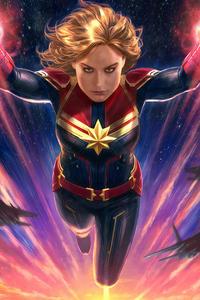 750x1334 Captain Marvel 4k Arts