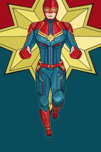 Captain Marvel 4k Artwork