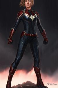 Captain Marvel 4k Concept Art