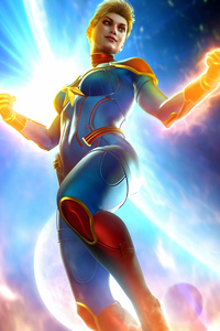 1080x1920 Captain Marvel 4k Flying