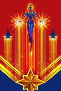 240x320 Captain Marvel 4k New Art