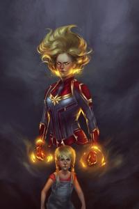 Captain Marvel 4k Newart