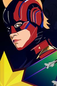 800x1280 Captain Marvel 4k Poster