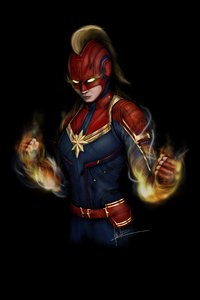 1125x2436 Captain Marvel 4k2020