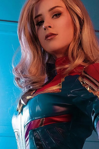 1125x2436 Captain Marvel 4kcosplay