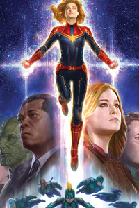 Captain Marvel 5k New Art