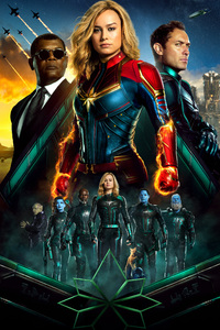 Captain Marvel 5k New Poster