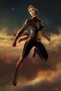 750x1334 Captain Marvel Art