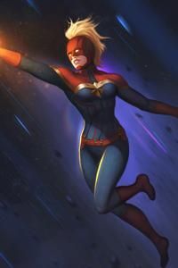Captain Marvel Arts New