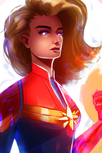 Captain Marvel Avengers Endgame Art