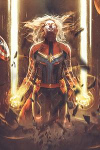 Captain Marvel Bosslogic Art