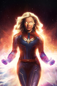 240x320 Captain Marvel Brie Larson 4k