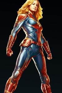 Captain Marvel Carol Danvers 4k
