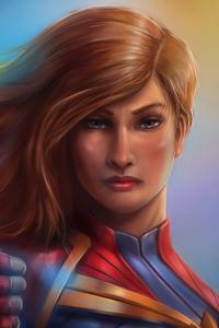 Captain Marvel Closeup Art