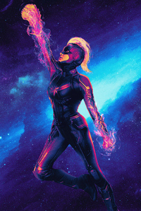 Captain Marvel Colorful Artwork