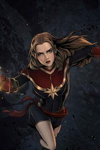 1440x2960 Captain Marvel Comic Artwork 4k