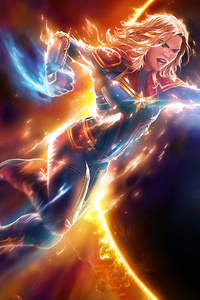 640x960 Captain Marvel Contest Of Champions