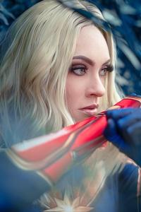 2160x3840 Captain Marvel Cosplay 5k