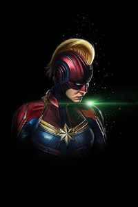 360x640 Captain Marvel Dark 4k