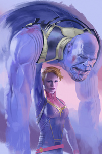 Captain Marvel Defeated Thanos
