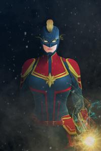 Captain Marvel Digital Artwork