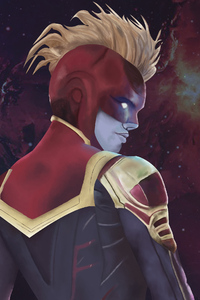 1280x2120 Captain Marvel Digital Artwork New