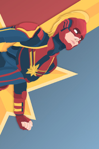 320x480 Captain Marvel Digital New Artwork
