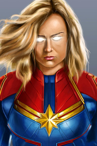 Captain Marvel Digital Painting
