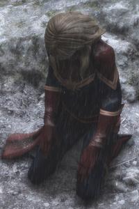 Captain Marvel Disappointment 5k Artwork