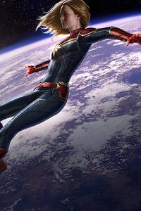 Captain Marvel Earth Frame 4k
