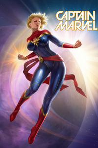 360x640 Captain Marvel Fan Artwork 4k