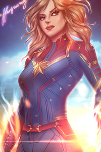 1280x2120 Captain Marvel Fan Artwork New