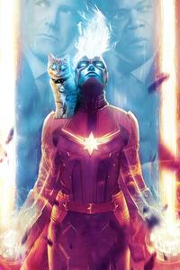 1080x2160 Captain Marvel Fanposter