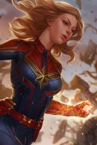 Captain Marvel Fantasy Art
