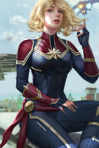1125x2436 Captain Marvel Featured Art